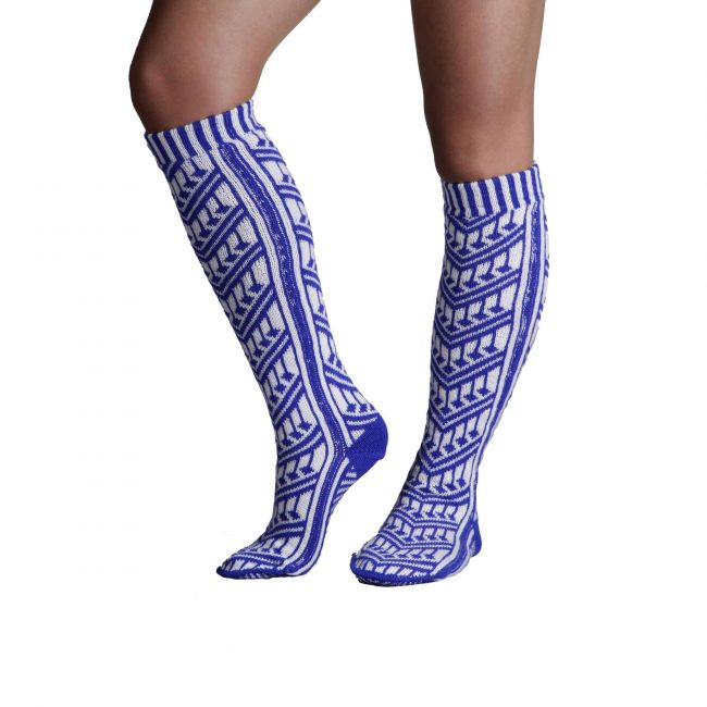 Traditional Turkish Blue Socks For Women 2 650x650 - Traditional Turkish Blue Socks For Women