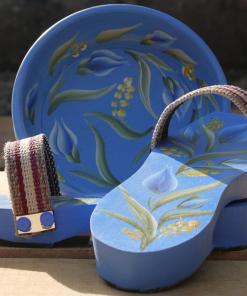 Traditional Turkish Hammam Clog Blue 1 247x296 - Traditional Turkish Hammam Clog Blue