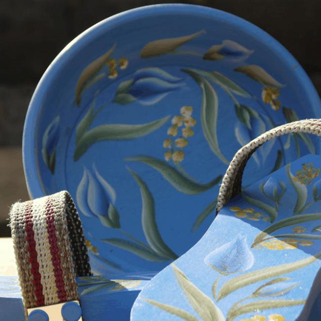 Traditional Turkish Hammam Clog Blue 2 650x650 - Traditional Turkish Hammam Clog Blue