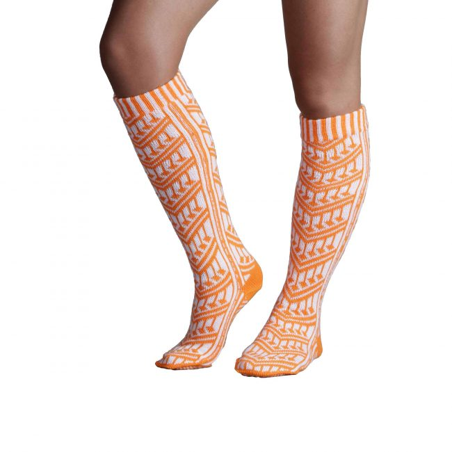 Traditional Turkish Orange Socks For Women 1 650x650 - Traditional Turkish Orange Socks For Women