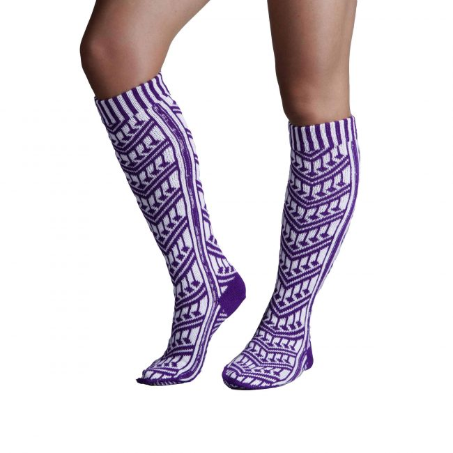 Traditional Turkish Purple Socks For Women 2 650x650 - Traditional Turkish Purple Socks For Women