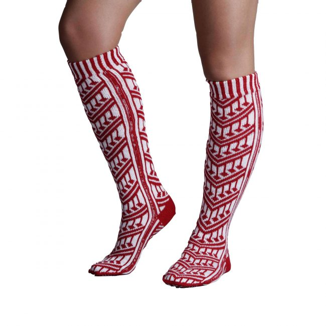Traditional Turkish Red Socks For Women 2 650x650 - Traditional Turkish Red Socks For Women