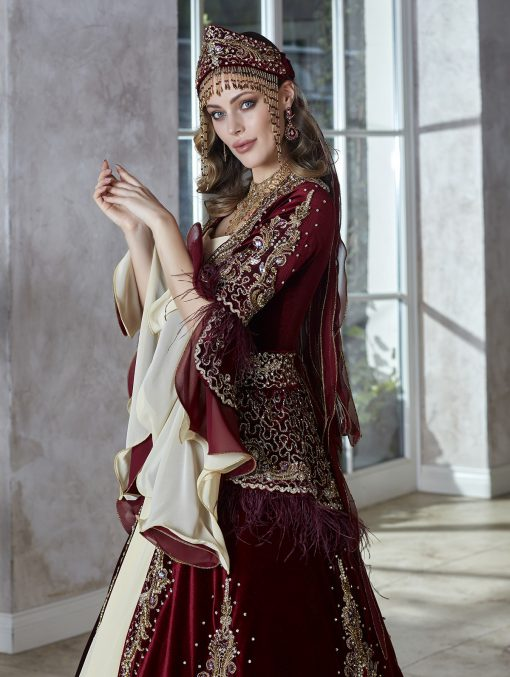turkish traditional patterns fancy formal long sleeve gown party wear dresses