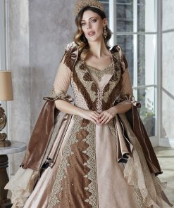 champagne luxury moroccan embroidered kaftan abaya dress online