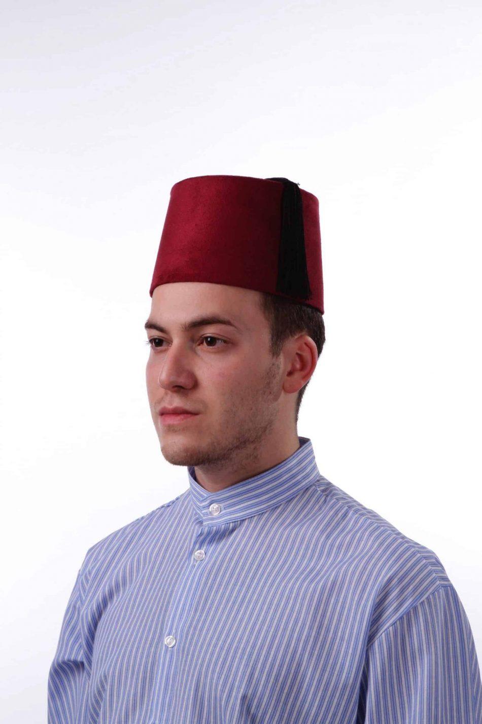 fez shop scaled 950x1425 - Traditional Velvet Red Turkish Fes Tassels