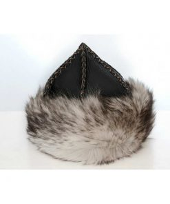 Gray Wolf Feather Patterned Leather Hat 2 247x296 - Sword
