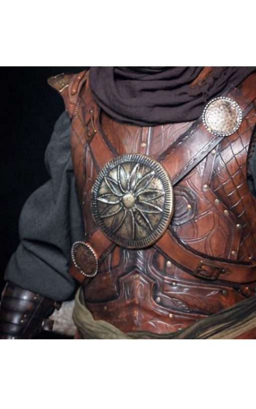 acher leather armor set with bracers