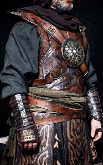embossed leather armor riveted to attach alp costume set