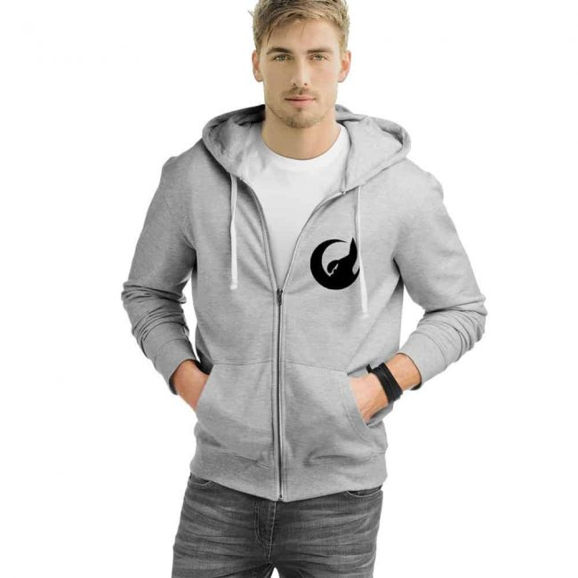 Crescent Wolf Zipped Hooded Sweatshirt