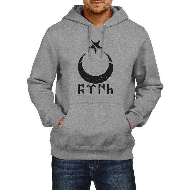 Gokturk Alphabet Crescent Hoodie Sweatshirt 3 650x650 - Gokturk Alphabet Crescent Hoodie Sweatshirt