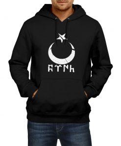 Gokturk Alphabet Crescent Hoodie Sweatshirt