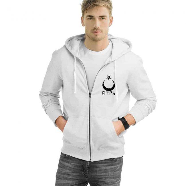 Gokturk Alphabet Crescent Turkish Zipped Sweatshirt 1 650x650 - Gokturk Alphabet Crescent Turkish Zipped Sweatshirt