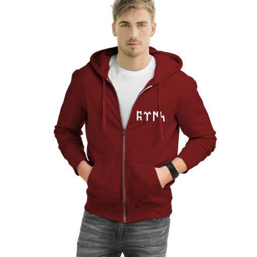 Gokturk Alphabet Turkish Zipped Sweatshirt 2 510x510 - Göktürk Alphabet Turkish Zipped Sweatshirt