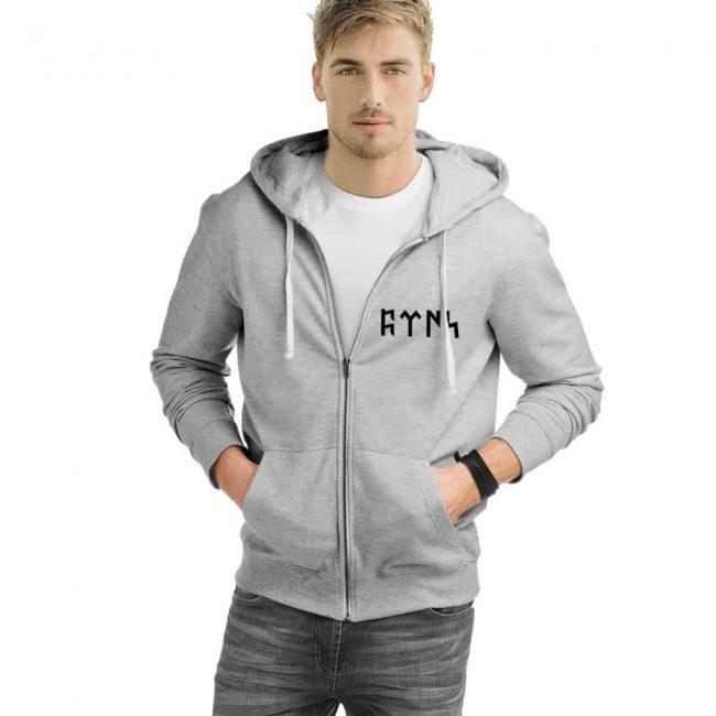 Gokturk Alphabet Turkish Zipped Sweatshirt 3 650x650 - Göktürk Alphabet Turkish Zipped Sweatshirt