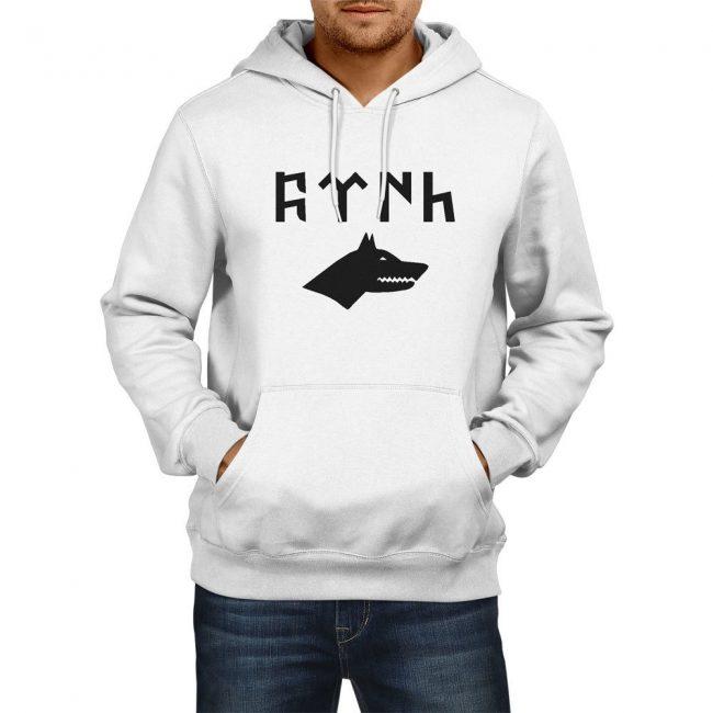 Gray Wolf Gokturk Alphabet Hooded Sweatshirt 1 650x650 - Gray Wolf Gokturk Alphabet Hooded Sweatshirt