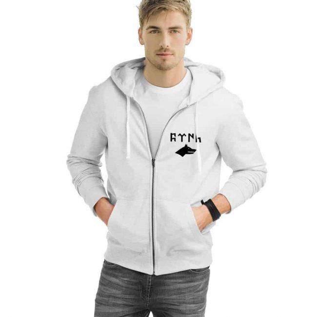 Gray Wolf Gokturk Alphabet Zipped Hooded Sweatshirt 1 650x650 - Gray Wolf Gokturk Alphabet Zipped Hooded Sweatshirt