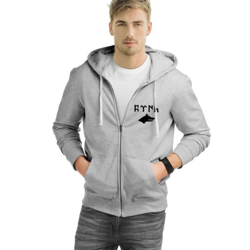 Gray Wolf Gokturk Alphabet Zipped Hooded Sweatshirt 3 510x510 - Gray Wolf Gokturk Alphabet Zipped Hooded Sweatshirt
