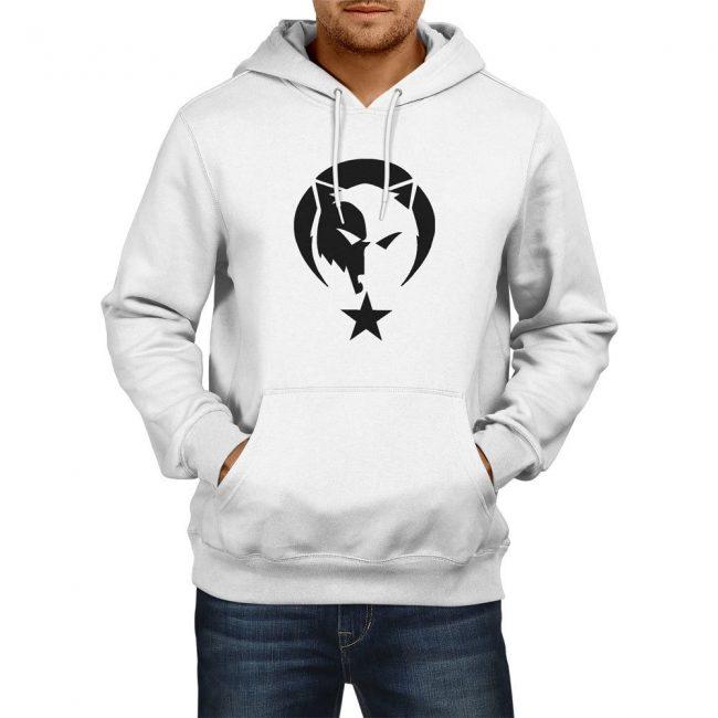 Gray Wolf Hooded Sweatshirt