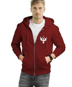 Turkish Seljuk Zipped Hooded Sweatshirt