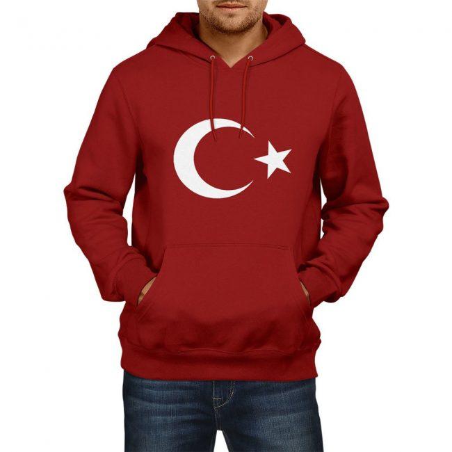 Turkish Flag Hooded Sweatshirts