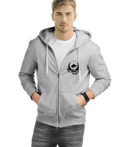 Wolf Head Zipped Hooded Sweatshirt 3 247x296 - Wolf Head Zipped Hooded Sweatshirt