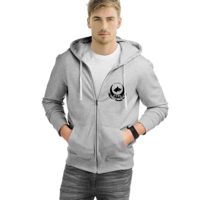 Wolf Head Zipped Hooded Sweatshirt 3 650x650 - Wolf Head Zipped Hooded Sweatshirt