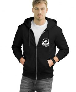 Wolf Head Zipped Hooded Sweatshirt