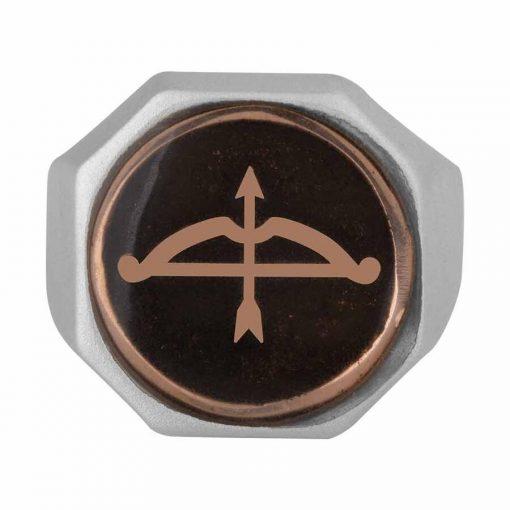 Buy Great Seljuk Arrow Bow Motif Diagonal Design Enameled Silver Mens Ring 2 510x510 - Great Seljuk Arrow Bow Motif Diagonal Design Enameled Silver Men's Ring