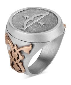 Buy Online Great Seljuk Arrow Bow Motif Silver Mens Ring 1 247x296 - Home