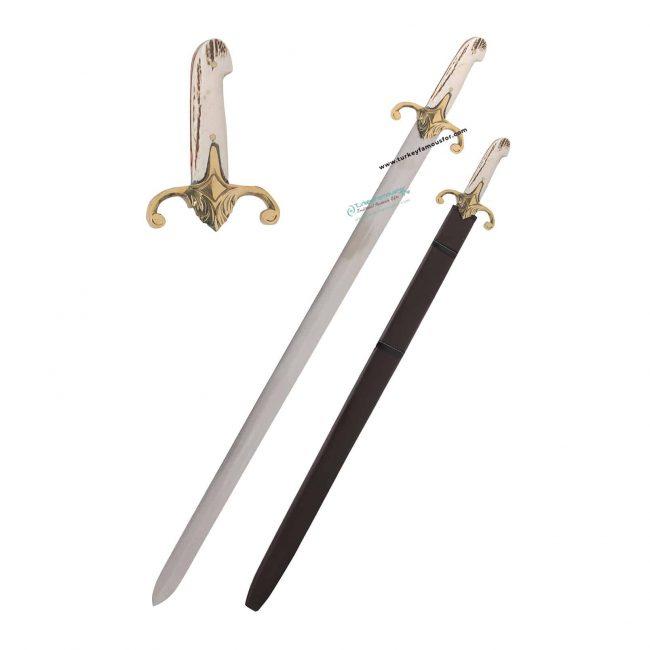 Buy Prophet Sword 650x650 - Prophet Muhammad (Pbuh) Replica Sword Deer Horn