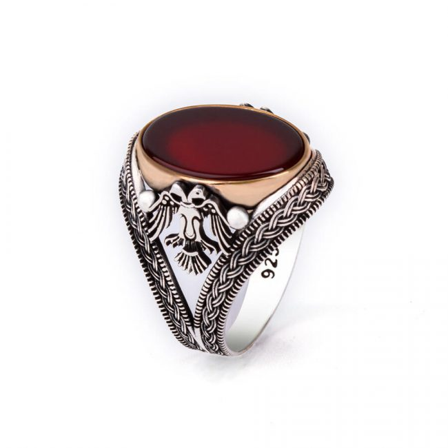 buy silver stone mens ring