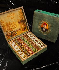 Mixed Turkish Delight Green Wooden Box 2050 gr 247x296 - Home