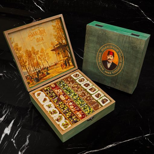 Mixed Turkish Delight Green Wooden Box 2050 gr 4 510x510 - Mixed Turkish Delight 2050 gr