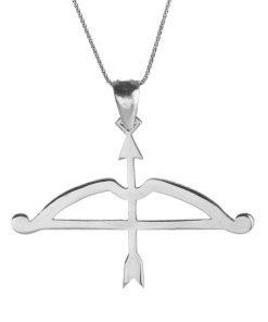 Tozkoparan Arrow Bow Horizontal Cut Arrow Silver Necklace 1 247x296 - Home