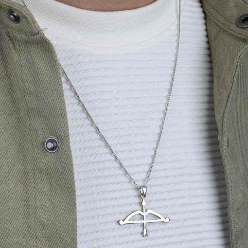 Tozkoparan Arrow Bow Horizontal Cut Arrow Silver Necklace 4 510x510 - Tozkoparan Arrow Bow Horizontal Cut Arrow Silver Necklace