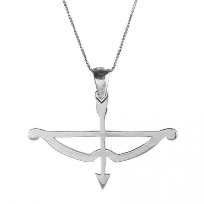 Tozkoparan Arrow Bow Horizontal Cut Silver Necklace 1 650x650 - Tozkoparan Arrow Bow Horizontal Cut Silver Necklace