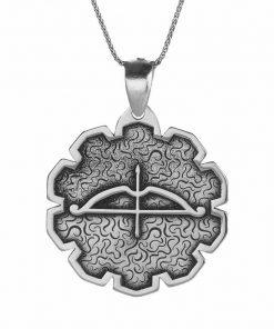 Tozkoparan Special Design Arrow Bow Silver Necklace 1 247x296 - Home