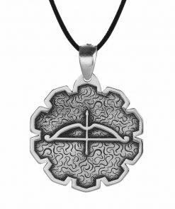 Tozkoparan Special Design Arrow Bow Silver Necklace 2 247x296 - Home