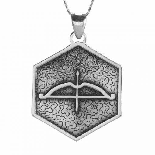 Tozkoparan Square Design Arrow Bow Silver Necklace 1 1 510x510 - Tozkoparan Square Design Arrow Bow Silver Necklace