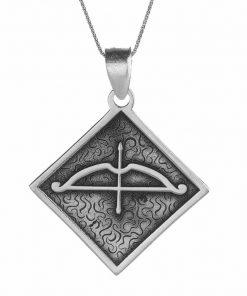 Tozkoparan Square Design Arrow Bow Silver Necklace 1 247x296 - Home