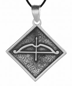 Tozkoparan Square Design Arrow Bow Silver Necklace 2 247x296 - Home