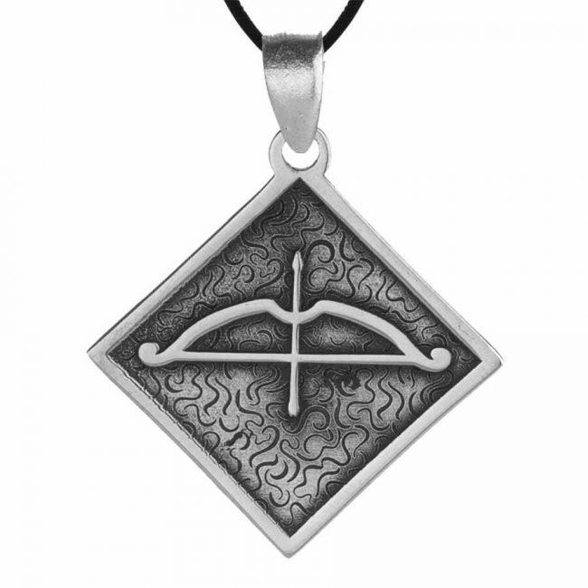 Tozkoparan Square Design Arrow Bow Silver Necklace 2 650x650 - Tozkoparan Square Design Arrow Bow Silver Necklace