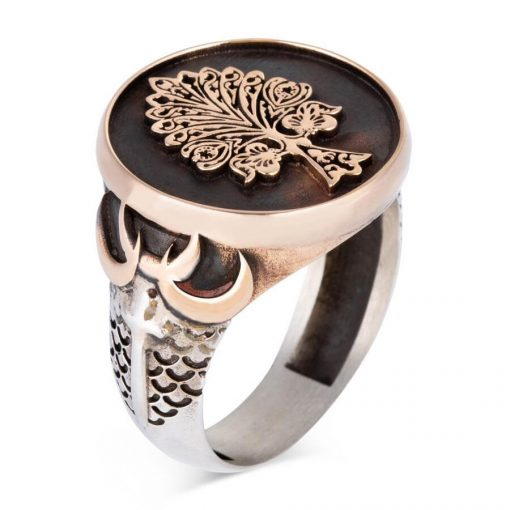 Tree of Life Silver Ring with Three Crescents 1 510x510 - Tree of Life Silver Ring with Three Crescents