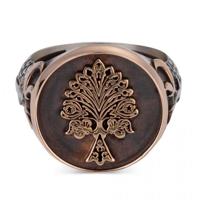 Tree of Life Silver Ring with Three Crescents 2 650x650 - Tree of Life Silver Ring with Three Crescents