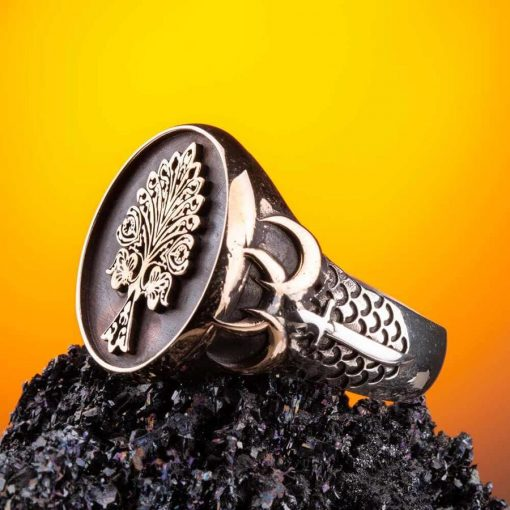 Tree of Life Silver Ring with Three Crescents 6 510x510 - Tree of Life Silver Ring with Three Crescents