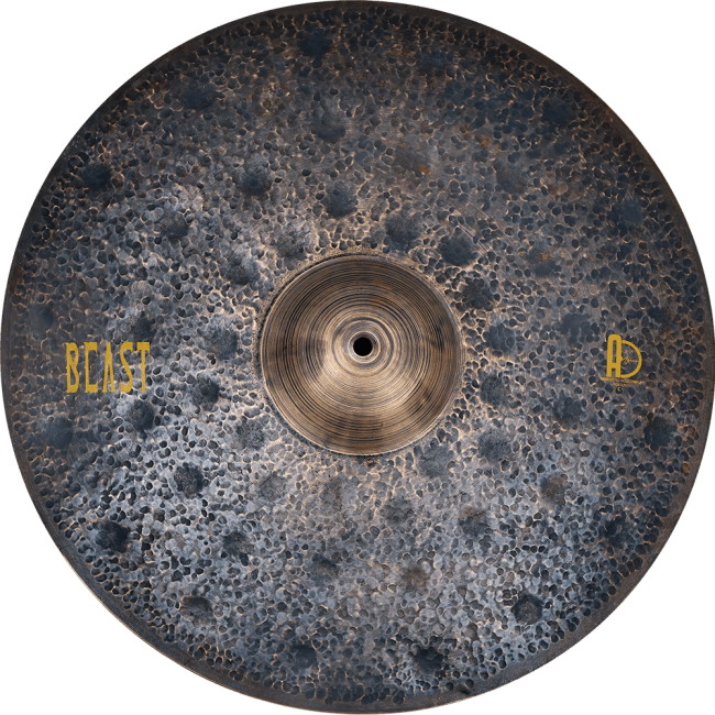 "Agean Cymbals Beast Ride 1 1 650x650 - Ride Cymbals 22"" Beast"