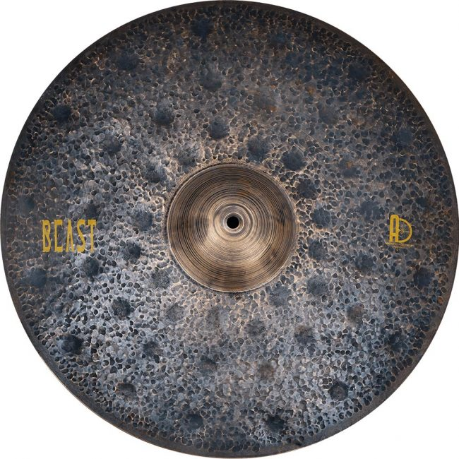 "Agean Cymbals Beast Ride 1 650x650 - Ride Cymbals 21"" Beast"