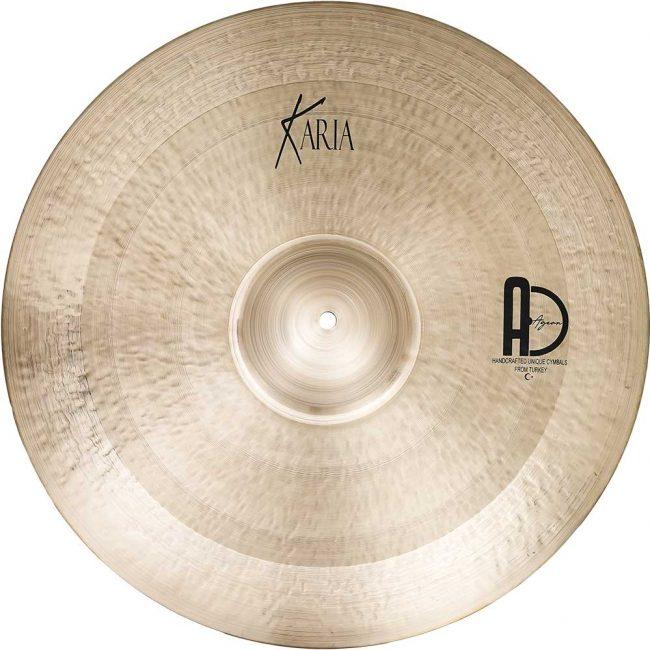 "Best Turkish Drum Cymbals Karia Ride 5 650x650 - Ride Cymbals 24"" Karia"