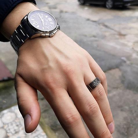 La Galibe Illallah Silver Ring 3 - La Galibe İllallah Silver Ring