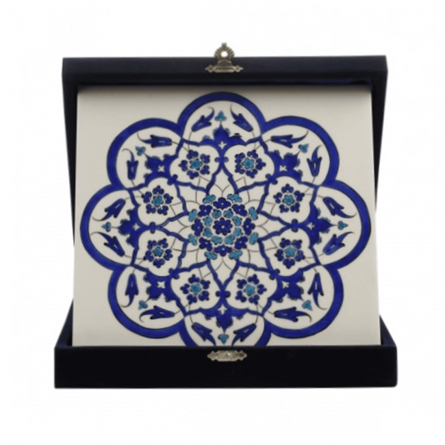 Replica Tile With Rosette Form